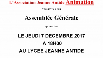 JEANNE ANTIDE - 2017 2018 - AG  JA Animation - 07 12 17